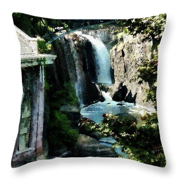 Paterson Falls Throw Pillow by Susan Savad