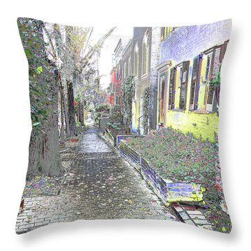 Throw Pillow featuring the photograph Path Beyond by EDi by Darlene