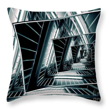 Path Of Winding Rails Throw Pillow