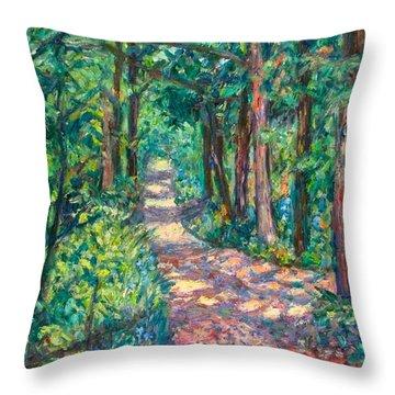 Path On Sharp Top Throw Pillow
