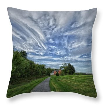 Path Throw Pillow by Robert Geary