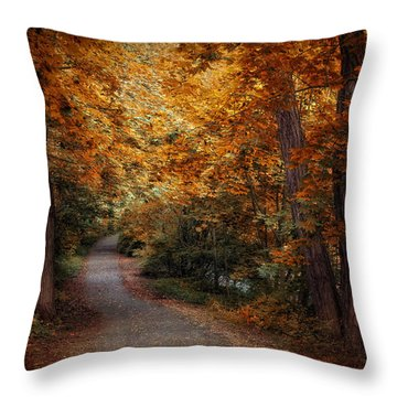 Path To Autumn  Throw Pillow by Jessica Jenney