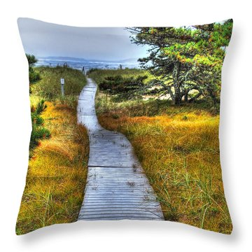 Path To Bliss Throw Pillow by Tammy Wetzel
