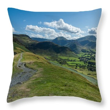 Path To Catbells Throw Pillow