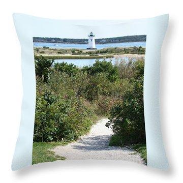 Path To Edgartown Lighthouse Throw Pillow