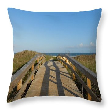 Path To Happiness Throw Pillow