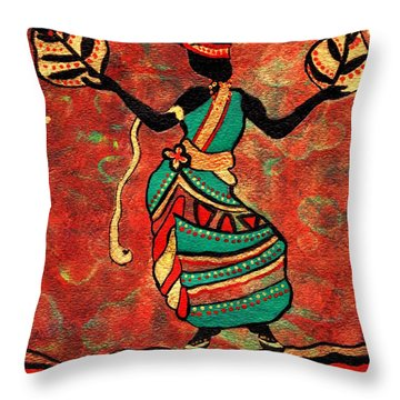 Path To Healing No.2 Throw Pillow by Connie Valasco