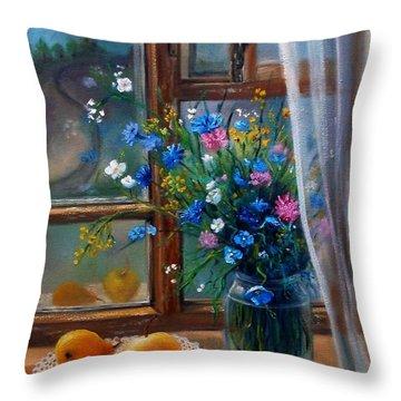 Path To Home Throw Pillow by Nina Mitkova