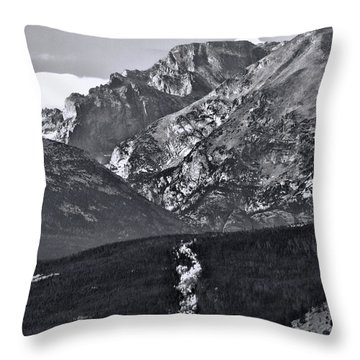 Throw Pillow featuring the photograph Path To Longs Peak by Dan Sproul