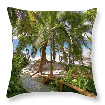 Path To Paradise Throw Pillow