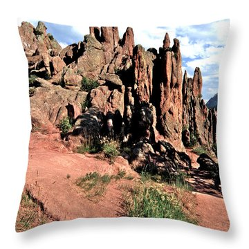 Path To Red Rocks Throw Pillow