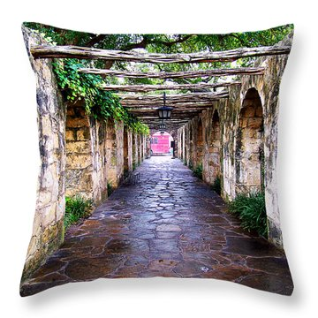 Path To The Alamo Throw Pillow