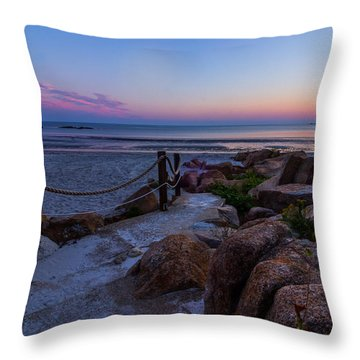 Path To The Beach Throw Pillow by Tim Kirchoff