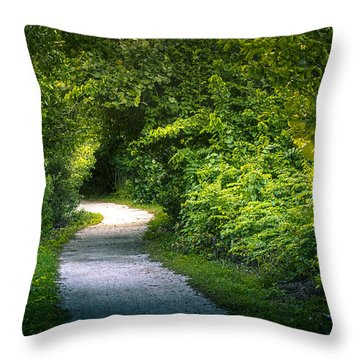 Path To The Secret Garden Throw Pillow