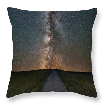 Path To The Stars  Throw Pillow