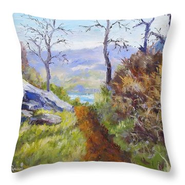 Path To The Water Throw Pillow