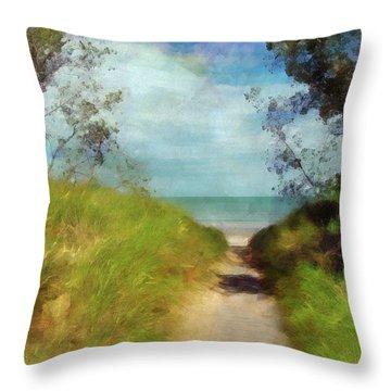 Path To Whihala Beach 2 Throw Pillow by Cedric Hampton