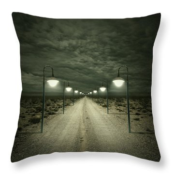 Path Throw Pillow by Zoltan Toth