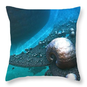 Paths Between Planets Throw Pillow