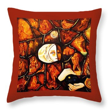 Paths Throw Pillow by Dalgis Edelson