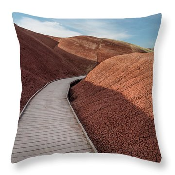 Pathway Through The Reds Throw Pillow by Greg Nyquist