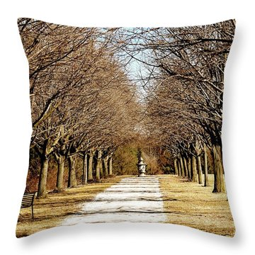 Pathway Through Trees Throw Pillow