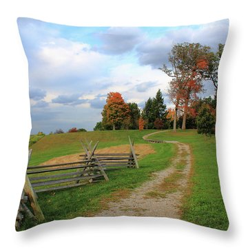 Pathway To Fall Throw Pillow