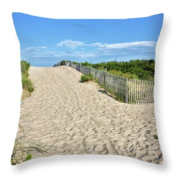 Throw Pillow featuring the photograph Pathway To The Beach - Delaware by Brendan Reals