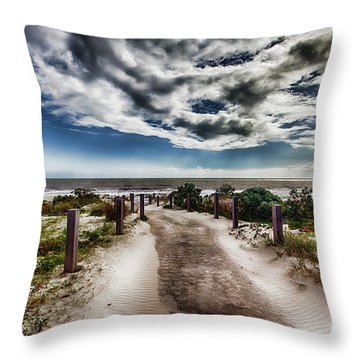Throw Pillow featuring the photograph Pathway To The Beach by Douglas Barnard
