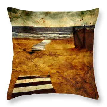 Pathway To The Sea II Throw Pillow