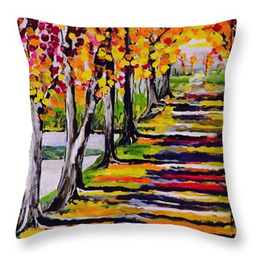 Pathyway To The Light - Landscape Throw Pillow
