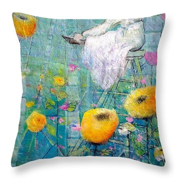 Patience Throw Pillow by Eleatta Diver