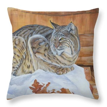 Patience Throw Pillow by Lucy Deane