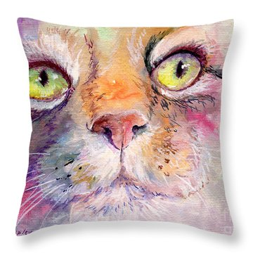 Patience Throw Pillow by Sherry Shipley