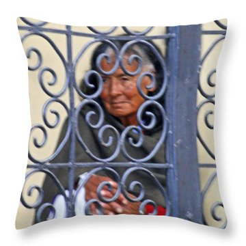 Patiently Waiting Throw Pillow by Al Bourassa
