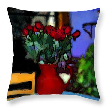 Patio Art 2  Throw Pillow