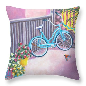 Patio Parking Throw Pillow