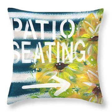 Patio Seating- By Linda Woods Throw Pillow by Linda Woods
