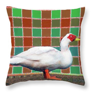 Pato Art 4 Throw Pillow