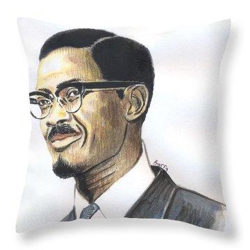 Patrice Emery Lumumba Throw Pillow