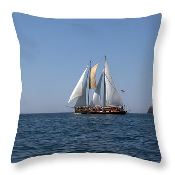 Throw Pillow featuring the photograph Patricia Belle 02 by Jim Walls PhotoArtist