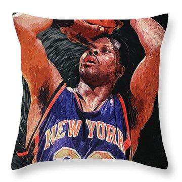 Patrick Ewing Throw Pillow