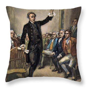 Patrick Henry (1736-1799) Throw Pillow by Granger