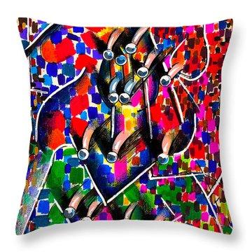 Patriot Throw Pillow by Al Goldfarb