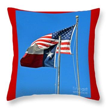 Patriot Proud Texan  Throw Pillow