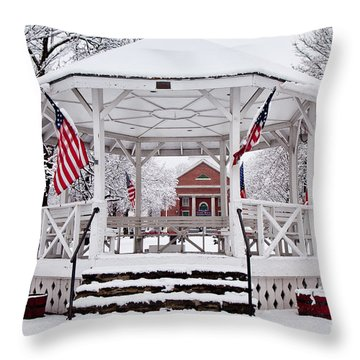 Patriotic Bandstand Throw Pillow by Susan Cole Kelly