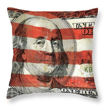 Patriotic Benjamin Throw Pillow