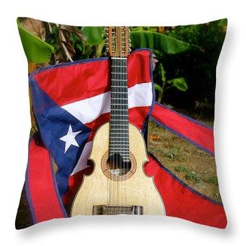 Patriotic Cuatro Throw Pillow