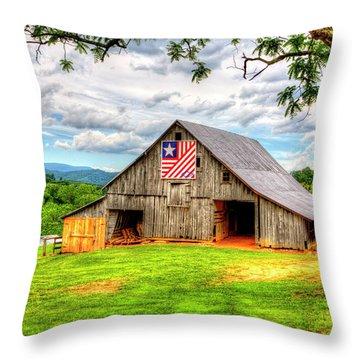 Patriotic Emblem Throw Pillow
