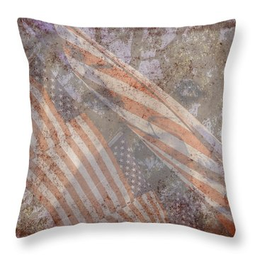 Patriotic Lab Throw Pillow
